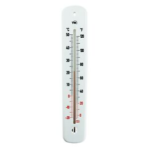 WALL THERMOMETER INDOOR OUTDOOR GARDEN GREENHOUSE HOME OFFICE ROOM 215 MM IN-253