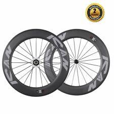 New listing ICAN 86mm 700C Road Bike/Triathlon Carbon Clincher Tubeless Ready Wheelset