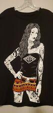 'Fatal' T-Shirt Men size XL Black Tattoos Skulls Graphics