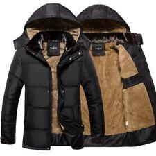 Men's Warm Detachable Hoodie Coat Parka Winter Coats Outwear Down Jacket Black