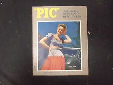 1943 SEP 28 PIC MAGAZINE - ALEXIS SMITH COVER - NICE PHOTOS INSIDE - ST 4058
