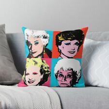 Golden Warhol Girls Pillow Case, Golden Girls Pillow Cover