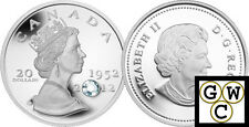 2012 Queen's Diamond Jubilee 1952-2012 Crystalized Prf $20 Sil Coin 9999 (12816)