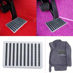 """Universal Stainless Steel Car Floor Mat Carpet Heel Plate Foot Pedal Rest 9""""x 6"""""""