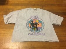 Vintage 80s 90s Party Club California Crop Tourist T-Shirt Top One Size Fits All