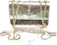 Handbags Borsa PATRIZIA PEPE  super chic Tracollina Vera Pelle Oro