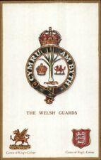 UK British Military Badge Crest Heraldic Postcard THE WELSH GUARDS