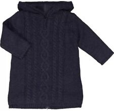 Bonpoint Navy Cable Knit Burnou Hooded Full Length Cardigan Age 2 RRP €165