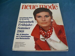 Vintage May-1968  Neue Mode fashion magazine in German