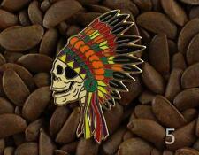Grateful Dead Pins Native American Indian Headdress Skull Pin NO5