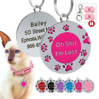 Oh Shit,I'm Lost Personalized Dog Cat Name Tag Custom Pet Collar ID Tag Engraved