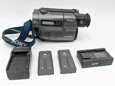Sony Handycam Hi8 CCD-TR3 Vtg Japanese Video Camera Recorder Batteries Charger