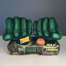 🔴 New Marvel The Incredible Hulk Smash Hands 2008 Hasbro