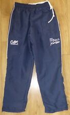 """SALE SHARKS RUGBY-Player Issued-NEW-Track Bottoms-Lined-NAVY-Embroidered-28""""/28"""""""