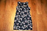 NEW BE BEAU butterfly print dress SIZE 10 tunic shift skater lined 50's vintage