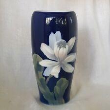 Royal Copenhagen Vase, 16.6cm,, Cobalt Blue, Cactus Flower.