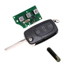 KEY Klappschlüssel Schlüssel für Audi 3T. ersetzt 4D0837231A ID48 433,92Mhz A01