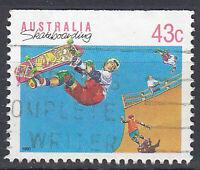 Australien Briefmarke gestempelt 43c Sport Skateboarding / 219