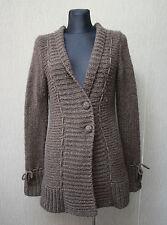 CULTURE Damen Strickjacke Gr. M Kitte Cardigan Wolle Acryl Jacke braun #17