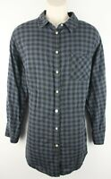 Ava & Viv Womens Long Sleeve Button Front Plaid Tunic Top Sz 2X Cotton Blend EUC
