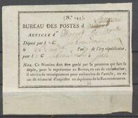 1799 Cote du Nord Reçu des postes. Superbe. X1401