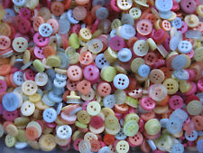 8 mm to 14mm Small Pastel Pink Lime Blue Lemon Baby Kids Sew Buttons 50gm bulk
