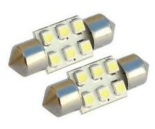 2 x 12V White 6 SMD LED Car Interior Festoon Dome Light Bulbs 31mm DE3175 DE3021