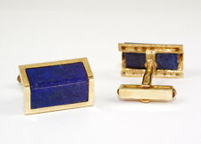 Gemelos con Auténtico LAPISLAZULI, Oro Amarillo 585 , sólido Tiradores