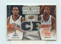 MIKE CONLEY RAYMOND FELTON 2009-10 UD DUAL GAME MATERIALS DUAL JERSEY RELIC