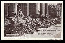 c1902 centennial  funeral wreaths Pantheon Victor Hugo France postcard