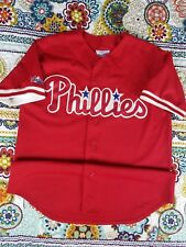 Philadelphia Phillies Majestic Diamond Collection Baseball Jersey Mens Sz L 90s