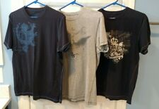 Lot of 3 Vintage Mens Medium Banana Republic 2 Blue and 1 Gray T Shirts