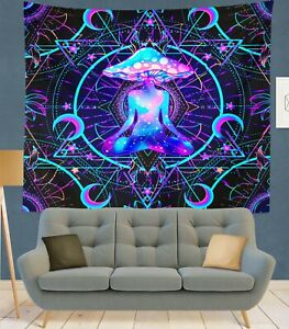 Trippy Gypsy Mandala Tapestry Psychedelic Wall Hanging Blanket for Bedroom Decor