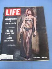 LIFE MAGAZINE SEPTEMBER 16 1966 SOPHIA LOREN ALFRED EISENSTAEDT SOUTH AFRICA