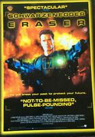 ERASER SCHWARZENEGGER - QUAD Movie Poster - FREE NEXT DAY DELIVERY