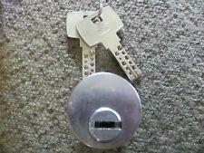 """Locksmiths!    DOM dimple key high security 1"""" mortise cylinder lock w/ 2 keys"""