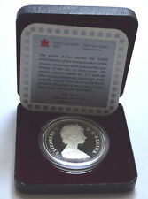 1986 CANADIAN DOLLAR PROOF VANCOUVER TRAIN .500 SILVER COIN WITH BOX & CoA