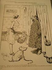 Le Satyre Girl Plumeau Cochon Gerbault Print Art Déco 1909