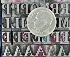 Vintage Alphabets Letterpress Printing Type 24pt Century Bold Mn77 7