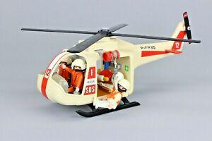 Playmobil 3789 Rettungshubschrauber Helikopter Bergwacht Seilrettung von 1987