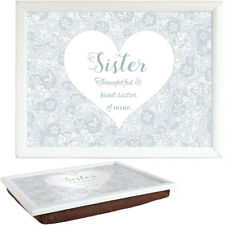 Said With Sentiment 7553 White Lap Tray Sister