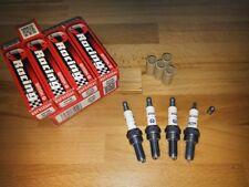 4x Kawasaki ZRX1200 y2001-2006 = Brisk Performance YS Silver Racing Spark Plugs
