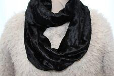 USA Black Crushed Velvet /& Lace Scarf Muffler Headband NWT Steampunk Rockabilly