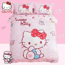 Hello Kitty Hearts Queen Bed Quilt Cover Set