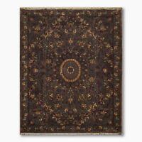 8' x 11' Hand Knotted Tibetan Medallion Design 100% Wool Area Rug 8x10