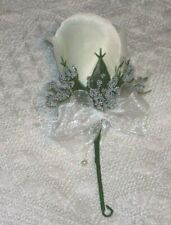 Boutonniere Wedding White Decoration Bride Quinceanera Groom Usher Father Ring