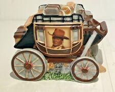 Vandor Novelty Salt & Pepper Shakers Covered Wagon John Wayne