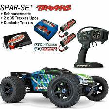Traxxas E-Revo Brushless TRX86086-4 Grün Blau SPARSET + 2x 5000 Lipo 3S + Lader