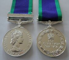 GSM Northern Ireland Full Size Medal, GSM, Military, Ribbon, Replacement, Army