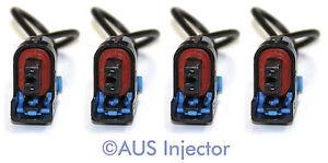 Set of 4 Fuel Injector Connector Pigtails fit DELPHI Mini [DELF-4]